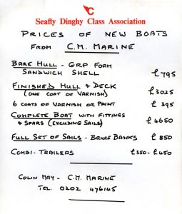 1994 C.M.Marine price list