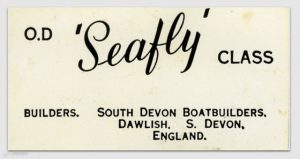 Builders plate from an SDBB Seafly