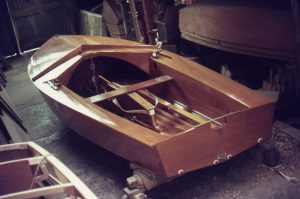 Finished hull (C211 or C311?) probably in Harold Lang's workshop in Sorrento, Port Phillip Bay Victoria