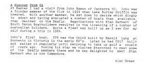 Report of John Hamon visiting UK; SDCA Newsletter, June 1980