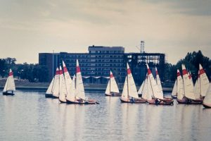 Canberra Day Regatta Mar'66, After the start with 20 Seaflys (photo: P.Fullagar)