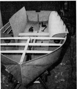 Mayfly being built from kit