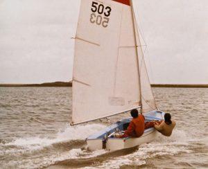 C503 sailing at Blakeney, Norfolk